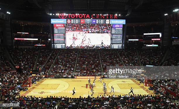 General view as fans watch the play during the game between the Los Angeles Lakers and the Houston Rockets at Toyota Center on December 12 2015 in...