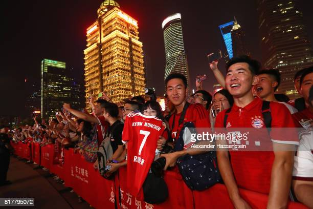 General view as FC Bayern Muenchen players visiting the Oriental Pearl Tower during the Audi Summer Tour 2017 on July 18 2017 in Shanghai China