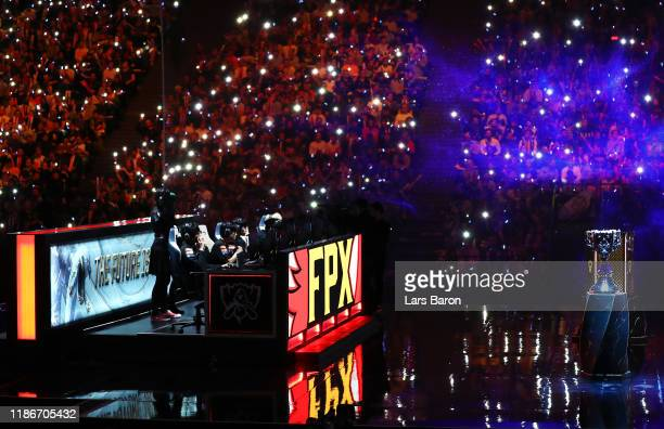 General view as FunPlus Phoenix compete during the 2019 League of Legends World Championships at AccorHotels Arena on November 10 2019 in Paris France