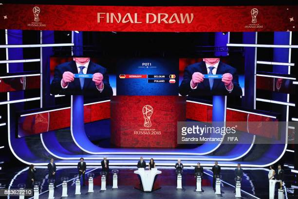 A general view as Germany is drawn during the Final Draw for the 2018 FIFA World Cup Russia at the State Kremlin Palace on December 1 2017 in Moscow...