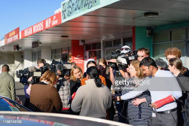 General view as Greater Christchurch Regeneration Minister Megan Woods and Abdul Aziz, who saved lives by running at the gunman at the Linwood...