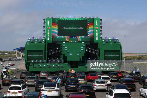 General view as guests of Heineken® celebrate the return of F1® with a Heineken® 0.0 #NowYouCan Drive-In viewing experience of the Austrian GP, at...
