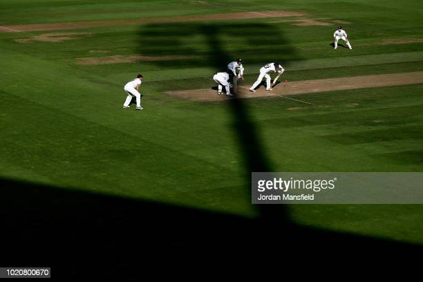 A general view as Haseeb Hameed of Lancashire bats during day three of the Specsavers County Championship Division One match between Surrey and...