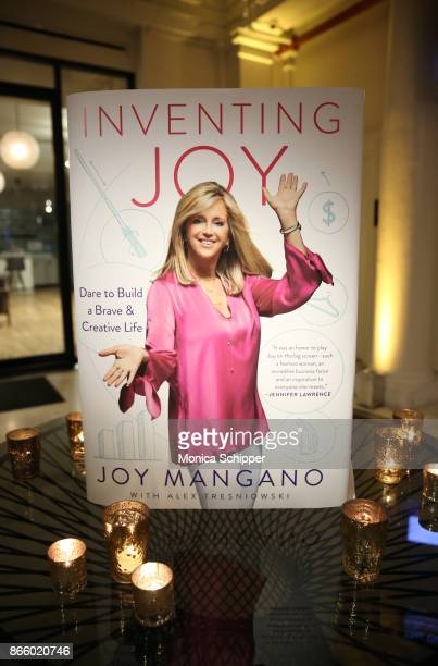 General view as inventor and entrepreneur Joy Mangano celebrates the release of her first book INVENTING JOY at WeWork on October 24 2017 in New York...