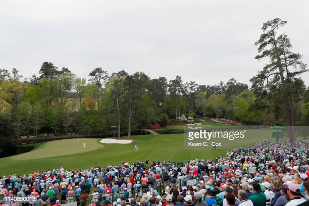 A general view as Jennifer Kupcho of the United States putts on the 11th green during the final round of the Augusta National Women's Amateur at...
