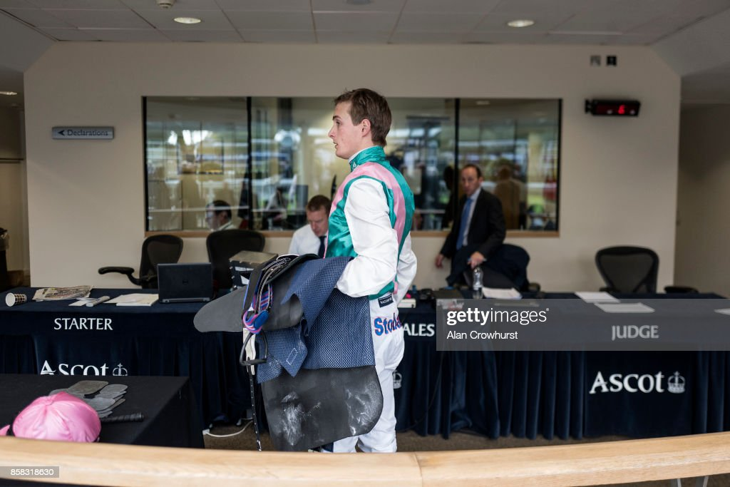 A general view as jockey Harry Bentley weighs in at Ascot racecourse on October 6, 2017 in Ascot, United Kingdom.