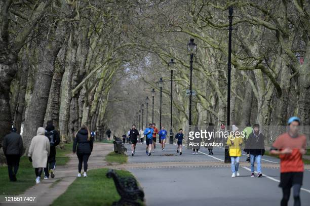 A general view as members of the public exercise in Hyde Park on March 29 2020 in London England The coronavirus pandemic has spread to at least 182...