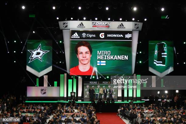 A general view as Miro Heiskanen is selected third overall by the Dallas Stars during the 2017 NHL Draft at the United Center on June 23 2017 in...