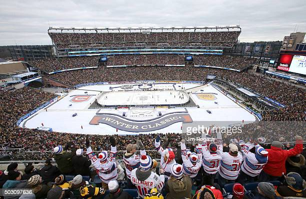 A general view as Montreal Canadiens fans celebrate after the first goal in the first period against the Boston Bruins during the 2016 Bridgestone...