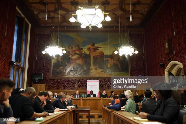General view as MPs speak to representatives of the Windrush generation at the House of Commons on May 1, 2018 in London, England. Residents from the...