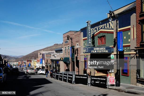 A general view as Park City prepares for the 2018 Sundance Film Festival on January 18 2018 in Park City Utah