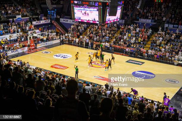 General view as play commences during the round 17 NBL match between the Illawarra Hawks and the Sydney Kings at WIN Entertainment Centre on January...