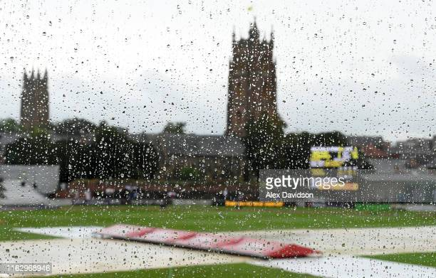 A general view as rain delays play during Day Two of the Kia Women's Test Match between England Women and Australia Women at The Cooper Associates...