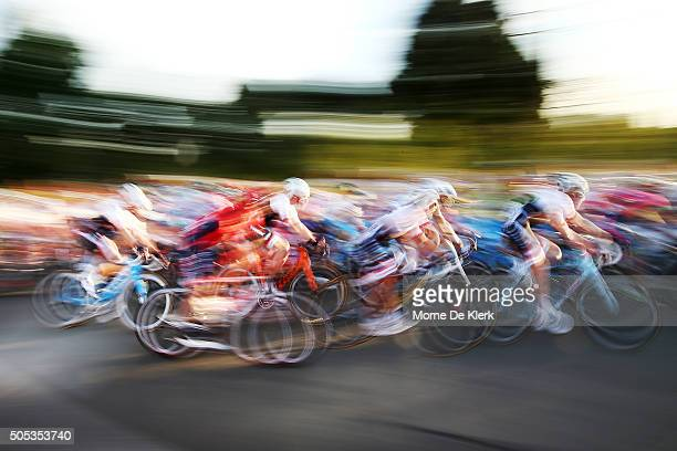 General view as riders compete in the People's Choice Classic, a preview race to the 2016 Tour Down Under on January 17, 2016 in Adelaide, Australia.