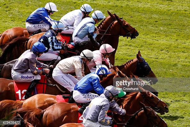 A general view as runners leave the stalls at Chester racecourse on May 07 2015 in Chester England
