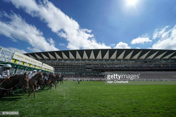 General view as runners leave the stalls on day 2 of Royal Ascot at Ascot Racecourse on June 20, 2018 in Ascot, England.