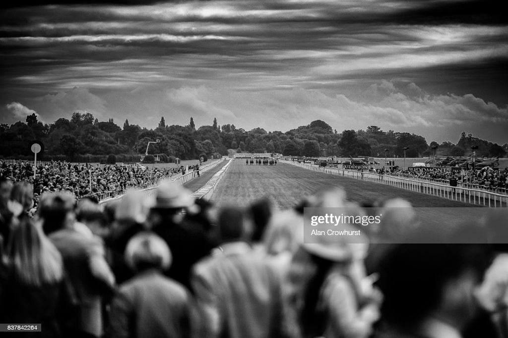 A general view as runners make their way down the centre of the course at York racecourse on August 23, 2017 in York, England.
