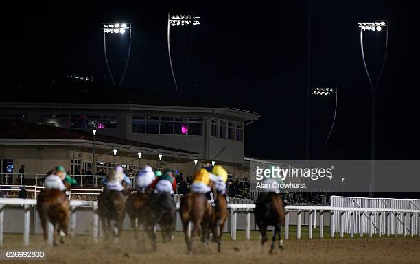 A general view as runners make their way towards the finish at Chelmsford racecourse on December 01 2016 in Chelmsford England