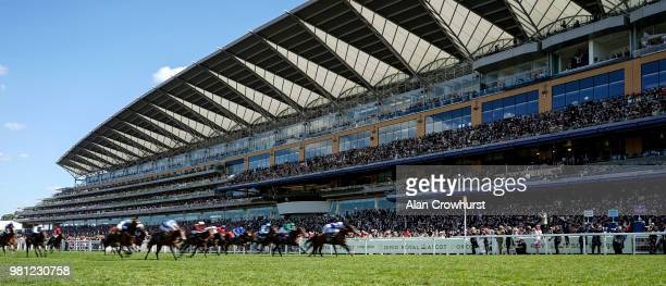 General view as runners near the finish on day 4 of Royal Ascot at Ascot Racecourse on June 22, 2018 in Ascot, England.