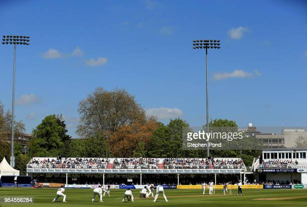 General view as Sam Cook of Essex bowls during the Specsavers County Championship Division One match between Essex and Yorkshire at the Cloudfm...