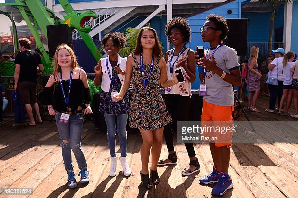 A general view as seen at Mattel Children's Hospital UCLA 16th Annual Party On The Pier Fundraiser at Santa Monica Pier on September 27 2015 in Santa...