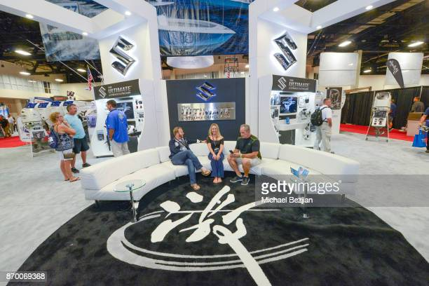 A general view as seen from the Suzuki exibit featuring The Ultimate 4Stroke Outboard display at Ft Lauderdale International Boat Show on November 2...