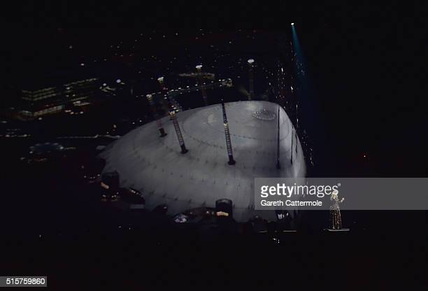 A general view as singer Adele performs on stage at The O2 Arena on March 15 2016 in London England