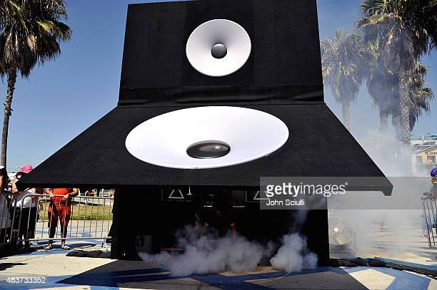A general view as singer Ivy Levan performs during the DTS Magic Speaker event supporting the release of her new album 'No Good' on August 7 2015 in...