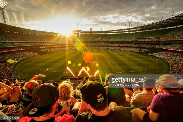 General view as Stars fans in the crowd show their support during the Big Bash League match between the Melbourne Stars and the Melbourne Renegades...