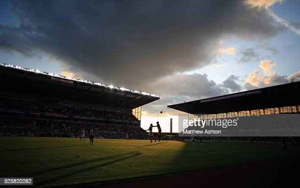 A general view as Stoke City play Real Betis at the Britannia Stadium