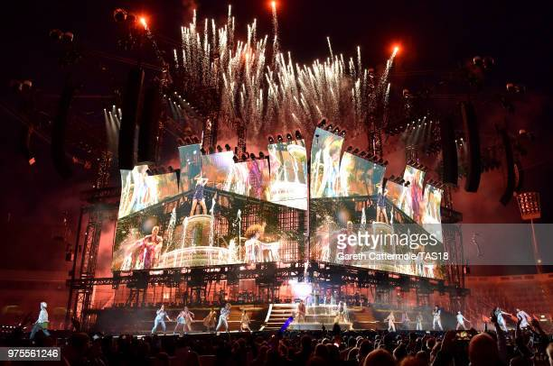 A general view as Taylor Swift performs on stage during her reputation Stadium Tour at Croke Park on June 15 2018 in Dublin Ireland