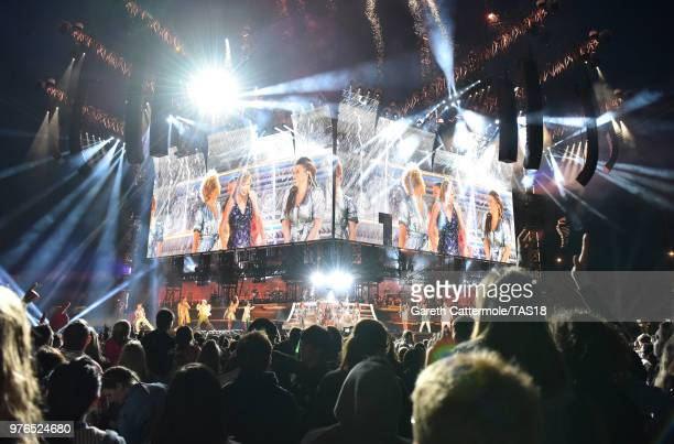 A general view as Taylor Swift performs on stage during her reputation Stadium Tour at Croke Park on June 16 2018 in Dublin Ireland