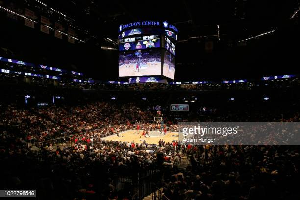 A general view as the 3 Headed Monsters take on Tri State in the third place game during the BIG3 Championship at the Barclays Center on August 24...