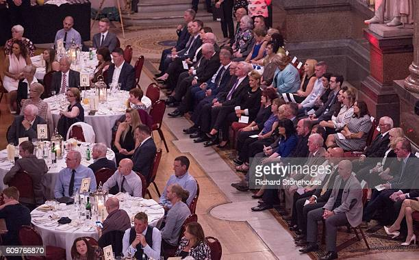 A general view as the 96 victims of the Hillsborough disaster are honoured with the Freedom of the City of Liverpool during a ceremony held at St...