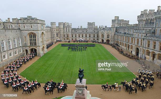 A general view as the Amir Sheikh Sabah AlAhmad AlJaber AlSabah of Kuwait arrives at Windsor Castle during a threeday state visit on November 27 2012...