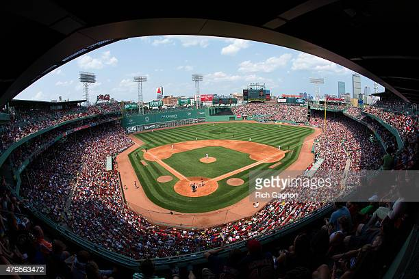 General view as the Boston Red Sox play a game against the Houston Astros at Fenway Park on July 5 2015 in Boston Massachusetts