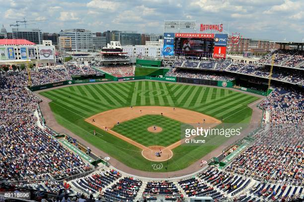 General view as the Chicago Cubs play against the Washington Nationals at Nationals Park on July 19 2009 in Washington DC