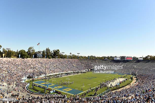 General view as the Colorado Buffaloes take on the UCLA Bruins at Rose Bowl on October 31 2015 in Pasadena California