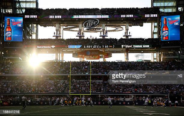A general view as the Dallas Cowboys take on the Pittsburgh Steelers at Cowboys Stadium on December 16 2012 in Arlington Texas The Dallas Cowboys...