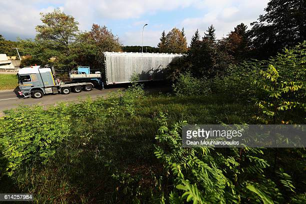 A general view as the ICARUS cryostat is moved within The European Organization for Nuclear Research commonly know as CERN on October 12 2016 in...