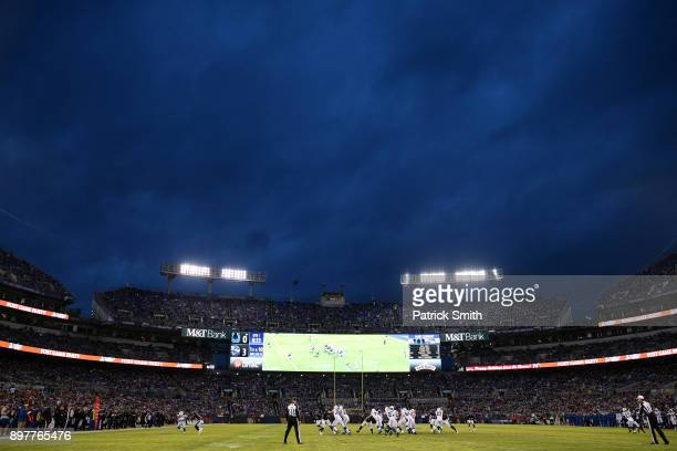 A general view as the Indianapolis Colts play the Baltimore Ravens in the first half at MT Bank Stadium on December 23 2017 in Baltimore Maryland