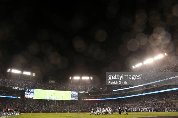 A general view as the Indianapolis Colts play the Baltimore Ravens in the second half at MT Bank Stadium on December 23 2017 in Baltimore Maryland