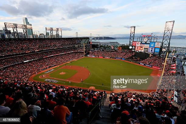 A general view as the Kansas City Royals takes on the San Francisco Giants during Game Three of the 2014 World Series at ATT Park on October 24 2014...