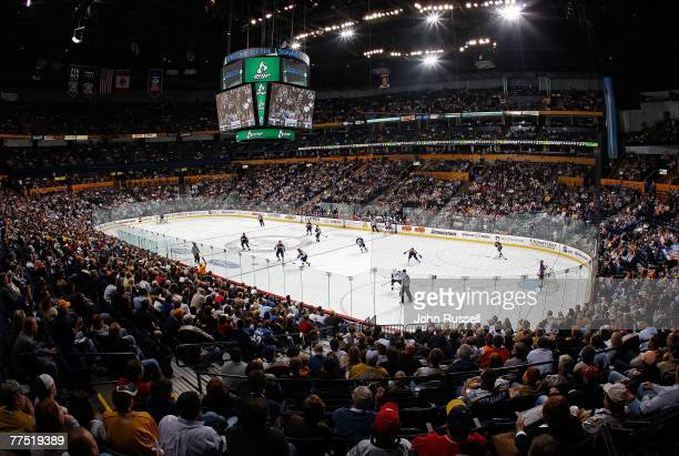General view as the Nashville Predators skate against the Atlanta Thrashers on October 25, 2007 at the Sommet Center in Nashville, Tennessee.