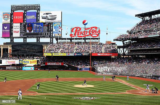 A general view as the New York Mets play the Milwaukee Brewers on April 18 2009 at Citi Field in the Flushing neighborhood of the Queens borough of...