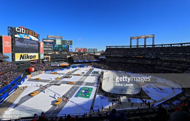 A general view as the New York Rangers take on the Buffalo Sabres in the first period during the 2018 Bridgestone NHL Winter Classic at Citi Field on...