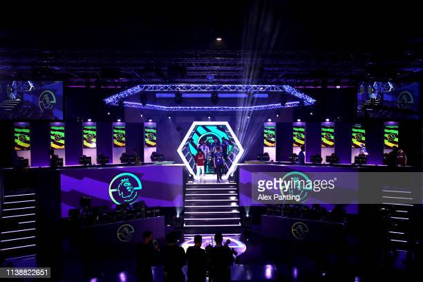 A general view as the PS4 players make their way to their seats during day one of the 2019 ePremier League Finals at Gfinity Arena on March 28 2019...