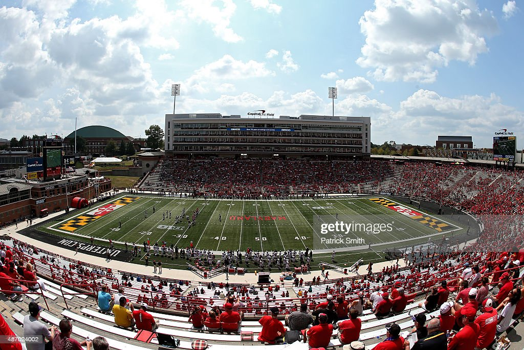 A general view as the Richmond Spiders play the Maryland Terrapins at Byrd Stadium on September 5, 2015 in College Park, Maryland. The Maryland Terrapins won, 50-21.