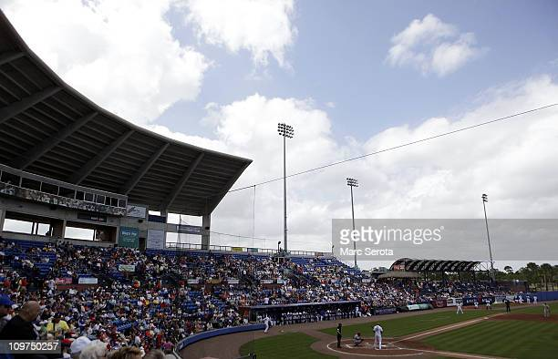A general view as the St Louis Cardinals play against the New York Mets at Digital Domain Park on March 3 2011 in Port St Lucie Florida