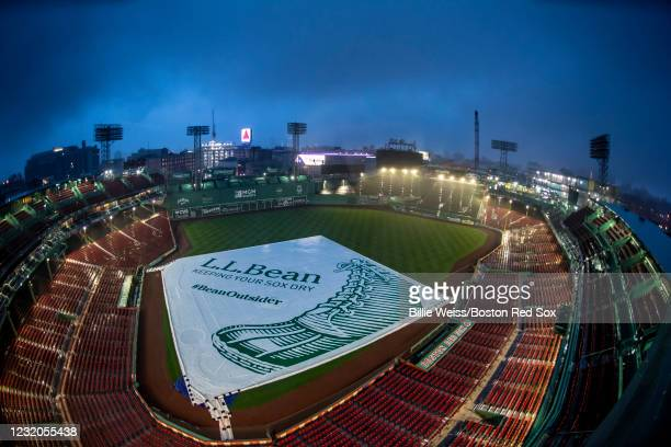 General view as the sun rises during the 2021 Opening Day game between the Boston Red Sox and the Baltimore Orioles on April 1, 2021 at Fenway Park...
